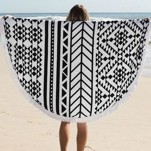 Other - TURKISH ROUND BEACH TOWEL - MAYAN RUINS PRINT